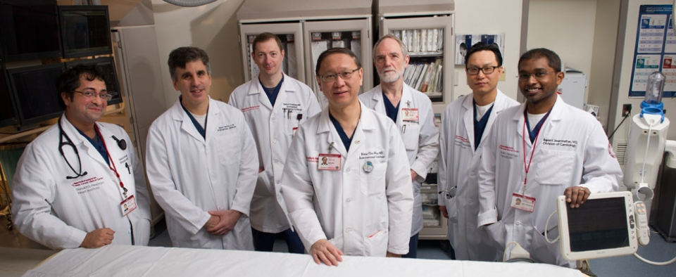 L to R: Drs. Hasimran Singh, Robert Minutello, Dmitriy Feldman, Shing-Chui Wong, Geoffrey Bergman, Luke Kim and Rajesh Swaminathan